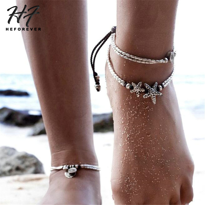 New Fashion Bohemian Bead Infinity CharmChain AnkletBracelet Barefoot MewelryRDR