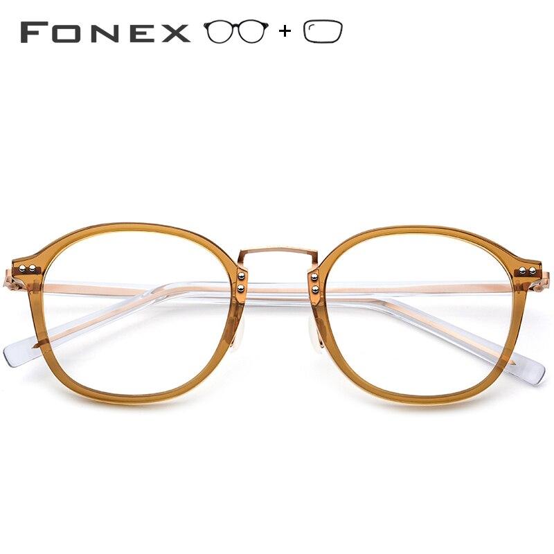 Acétate optique lunettes cadre femmes carré mémoire Prescription lunettes 2019 hommes clair Transparent myopie lunettes lunettes - 2
