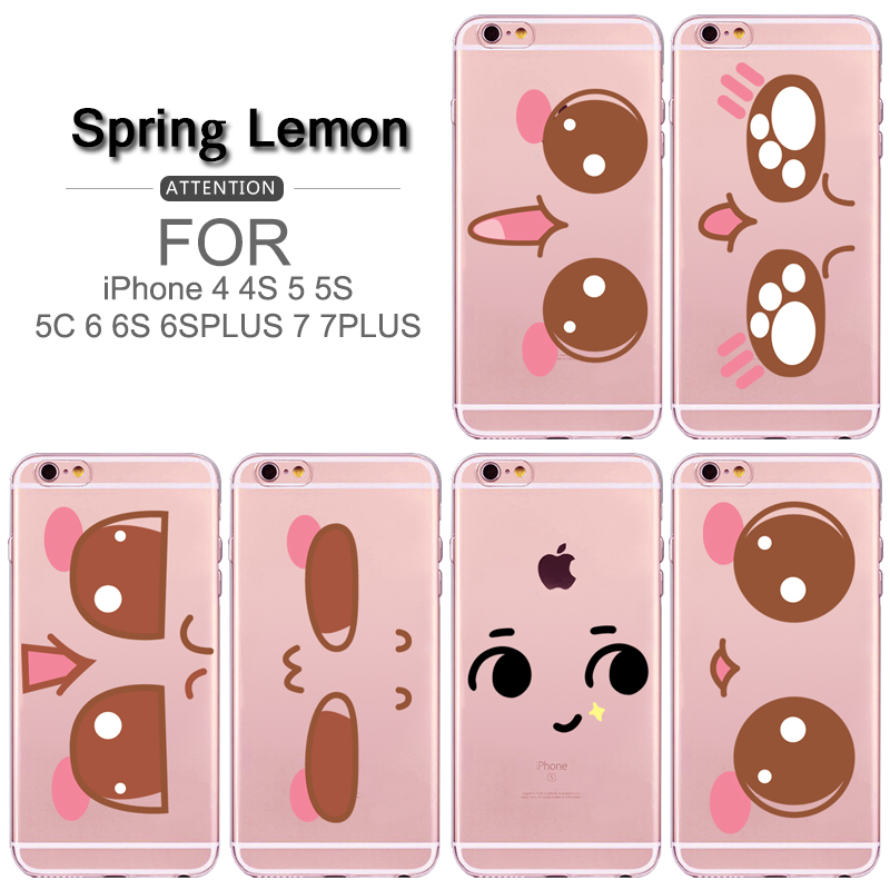 For iPhone 6 Case Super Cute Smile Face Expression Soft TPU Phone Case For iPhone 6S 6PLUS 6S PLUS 7 7PLUS 5 5S