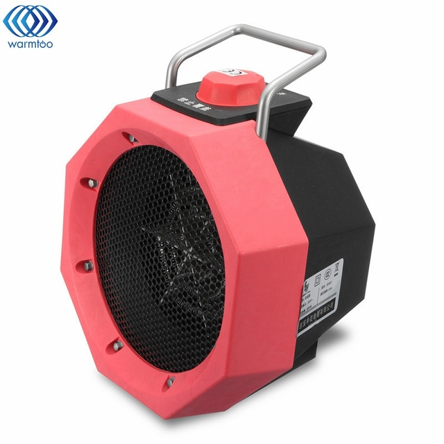 Mini Heater Office Desktop Cartoon Electric Heateing Nonradiative Portable Home Heaters 220V 600W Warm Winter Red