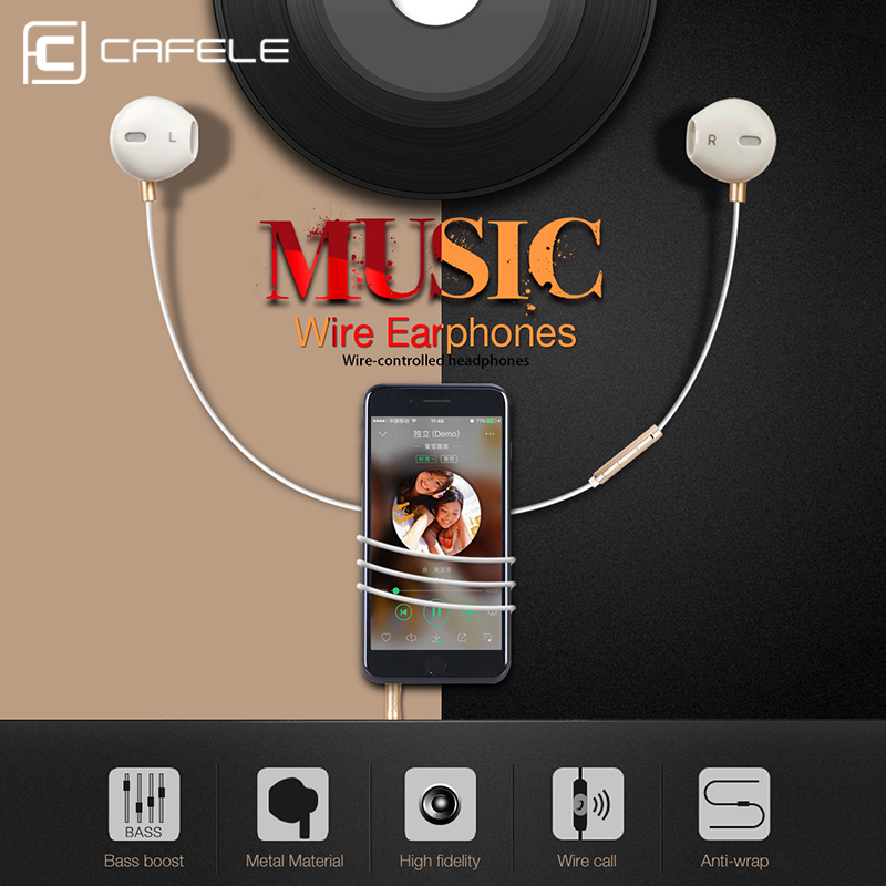 US $4 99 25% OFF|CAFELE Professional In Ear Earphone Metal Heavy Bass High  fidelity Sound Quality Music Earphone with microphone for Mobile Phone-in