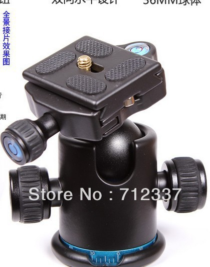 Tripod Heads Professional Camera Universal All-Direction Adjustable Camera Mount Tripod Ball head KS-0 for Benro/Manfrotto new benro c1580fb1 original tripod for slr camera reflexum professional tripod carbon fiber tripod