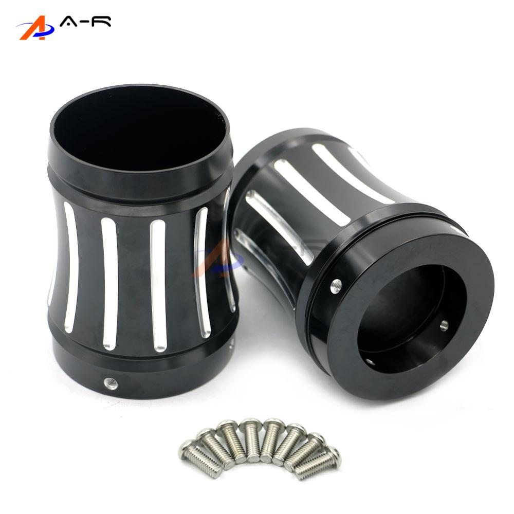 Edge Deep Cut 4 Motorcycle Exhaust Tips Merge Style Muffler End Cap Slotted for 1986-2016 Harley Road King Street Electra Glide deep cut exhaust muffler tips for harley bagger touring pipes 4