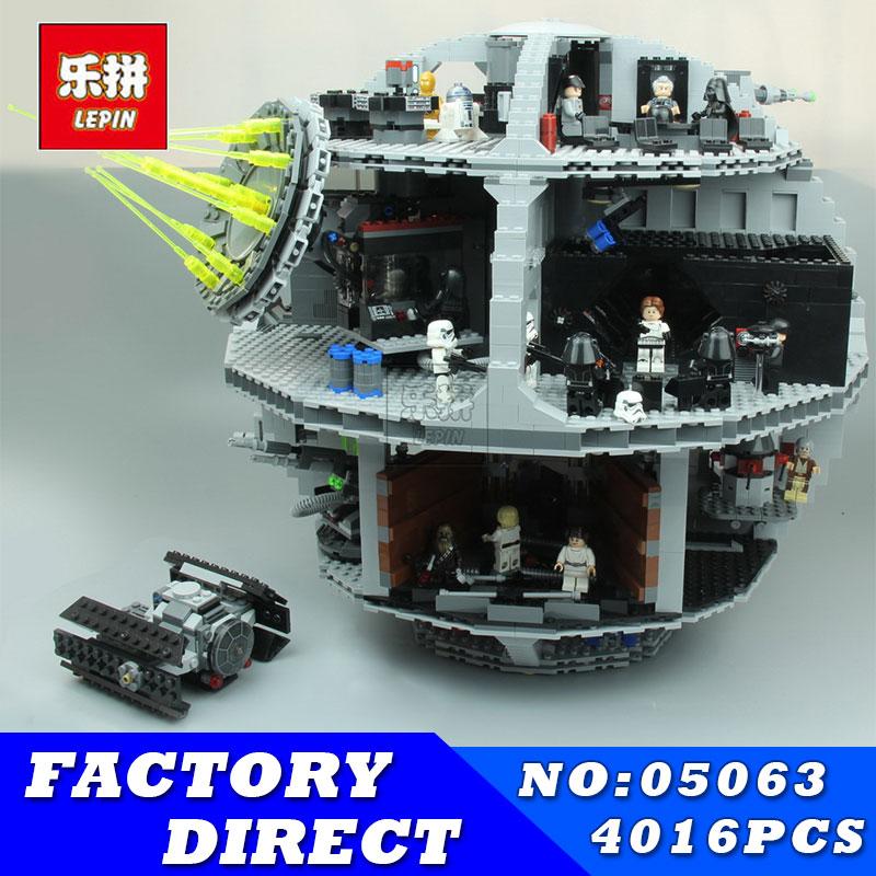 Лепин 05026 4016 шт. 05063 Star Set Wars Force Waken UCS смерть Звезда модель развивающие строительные блоки кирпичи детские игрушки 75159
