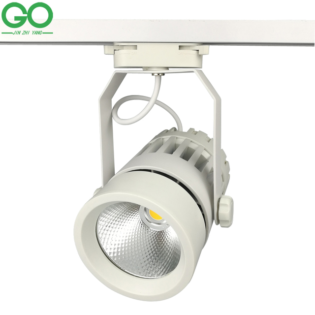 LED Track Lights 30W COB 130-140lm/W Moving Head Modern Wall Rail Light Equal 300W Halogen Lamps For Clothes Shop Shoes Store