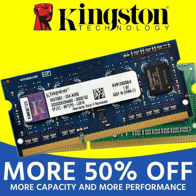 Kingston notebook Laptop RAM Memoria Module DDR2 800 667 MHz PC2 6400S 1GB 2G 2GB 4G 4GB 8GB DDR3 1333 1600 MHz PC3-12800 3