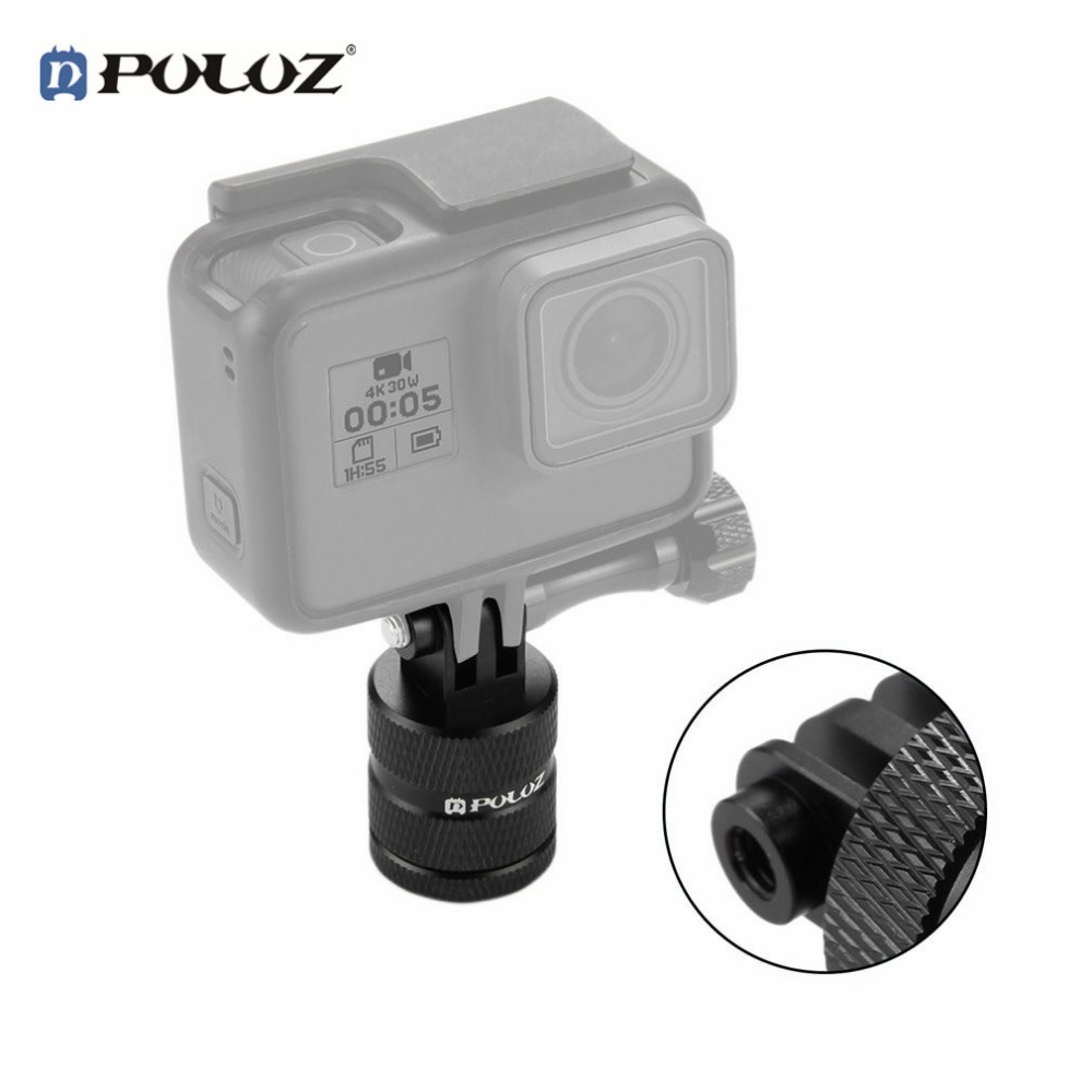 PULUZ Lightweight Aluminum 360 Degree Rotation CNC Swivel Pivot Arm Tripod Mount For GoPro Hero 6 5 4 3 Go pro accessories цена