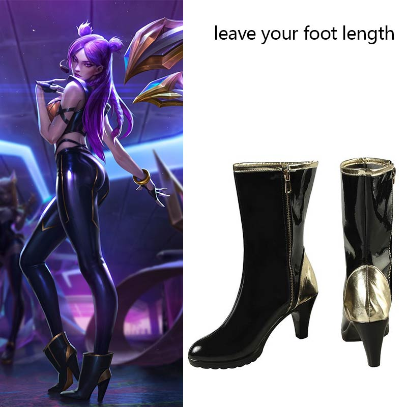 Game LOL Cosplay Boots KDA Kaisa Costume Shoes League of Legends Daughter of the Void Sexy Women High-Heeled Shoes for Halloween
