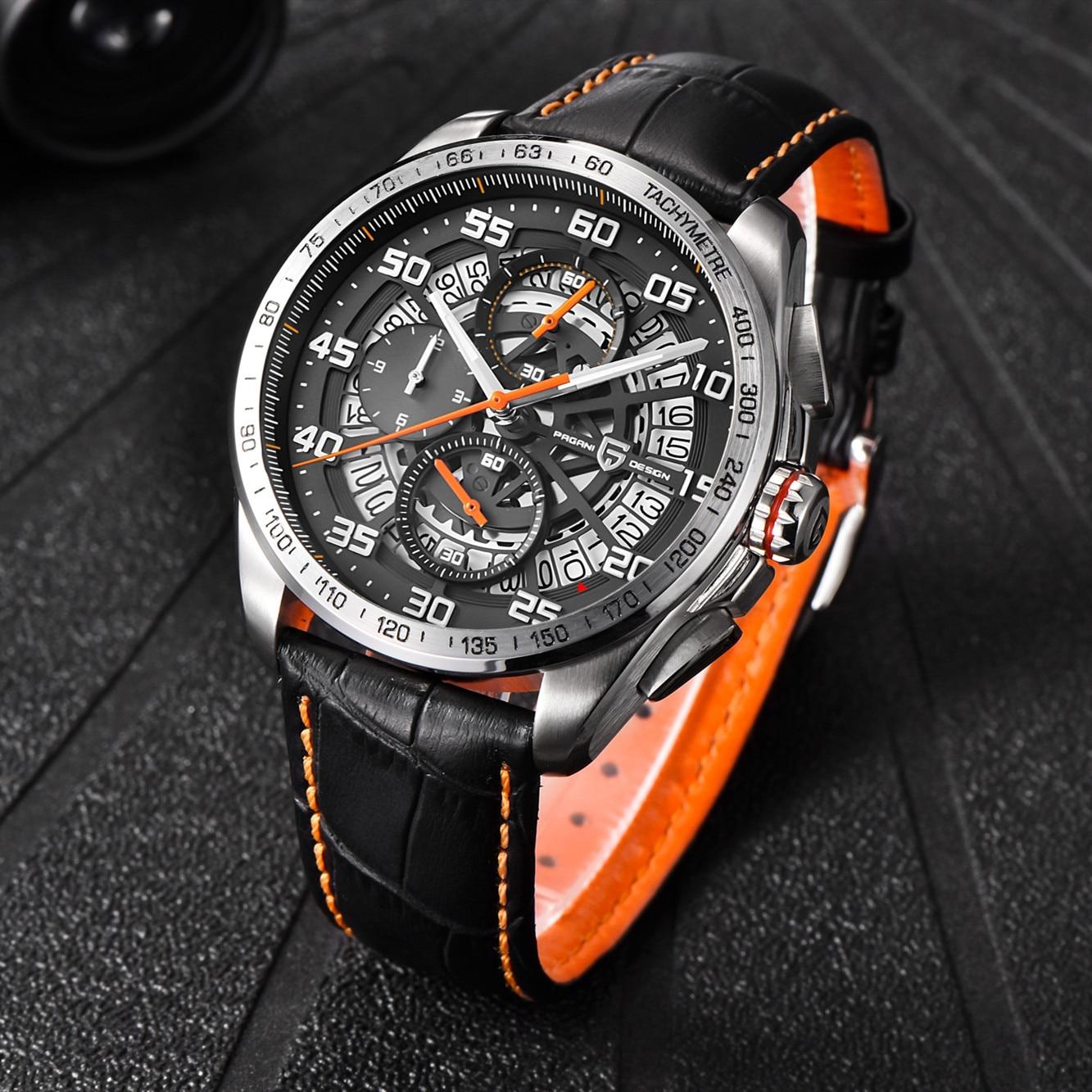 Relojes deportivos de marca de diseño PAGANI para hombre, cronógrafo militar, reloj militar de cuarzo, acero inoxidable, reloj militar para hombre, reloj Masculino, Saat - 6