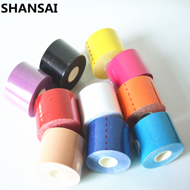 5CM*5M Protect Leggings Tape Kinesio Elbow Kneepads Elastic Bandage Knee Tactical Pad Support Kinesiology Adhesive Tape