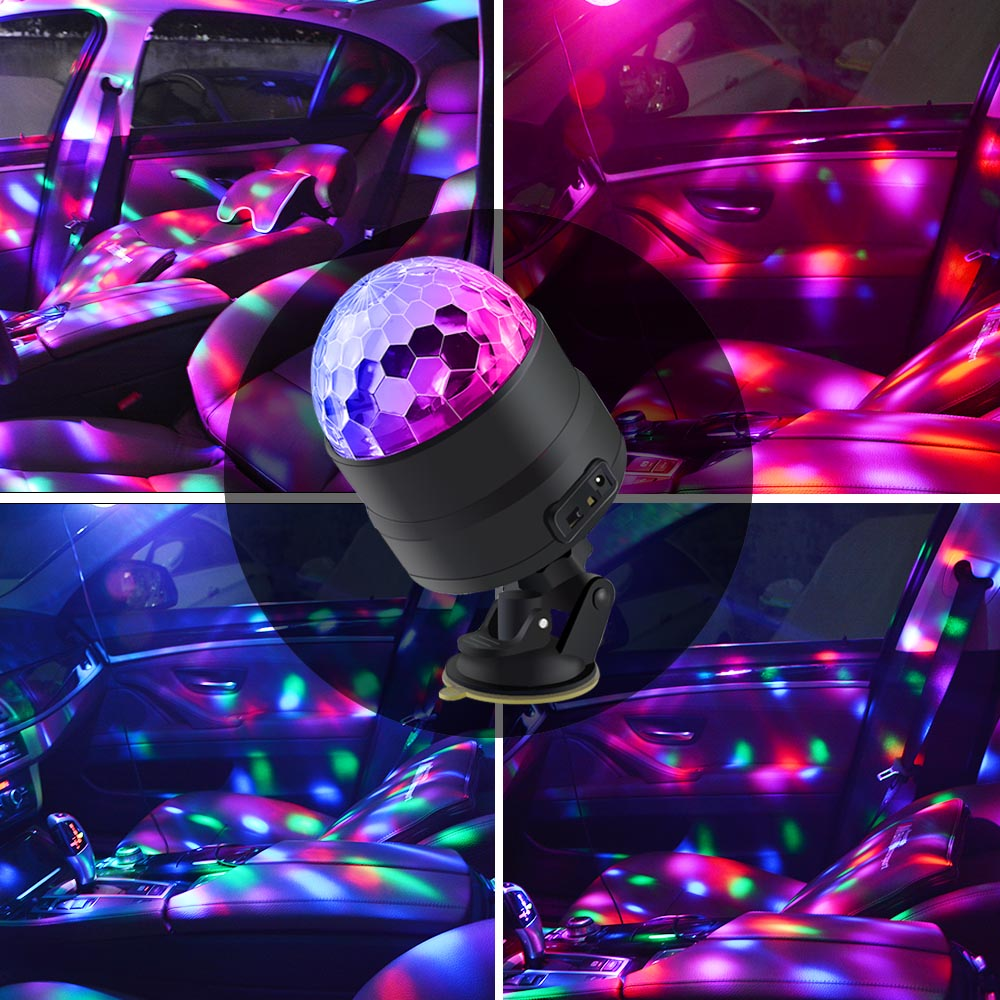 Atotalof LED Interior Car Lights Disco Ball 4 Color With Remote Control USB  Stage Light Inside The Car Projector Dj Party Light In Stage Lighting  Effect ...