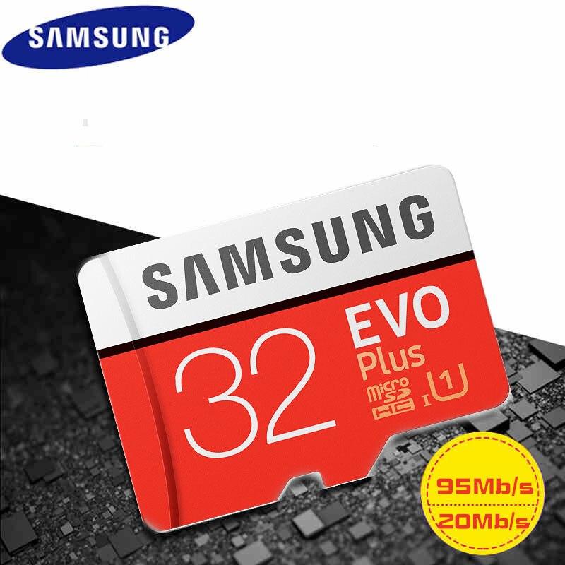 Original SAMSUNG Micro SD Speicherkarte EVO + Plus 32 GB Class10 wasserdichte TFFlash Memoria Karte C10 SDHC/SDXCUHS-1 für smartphones