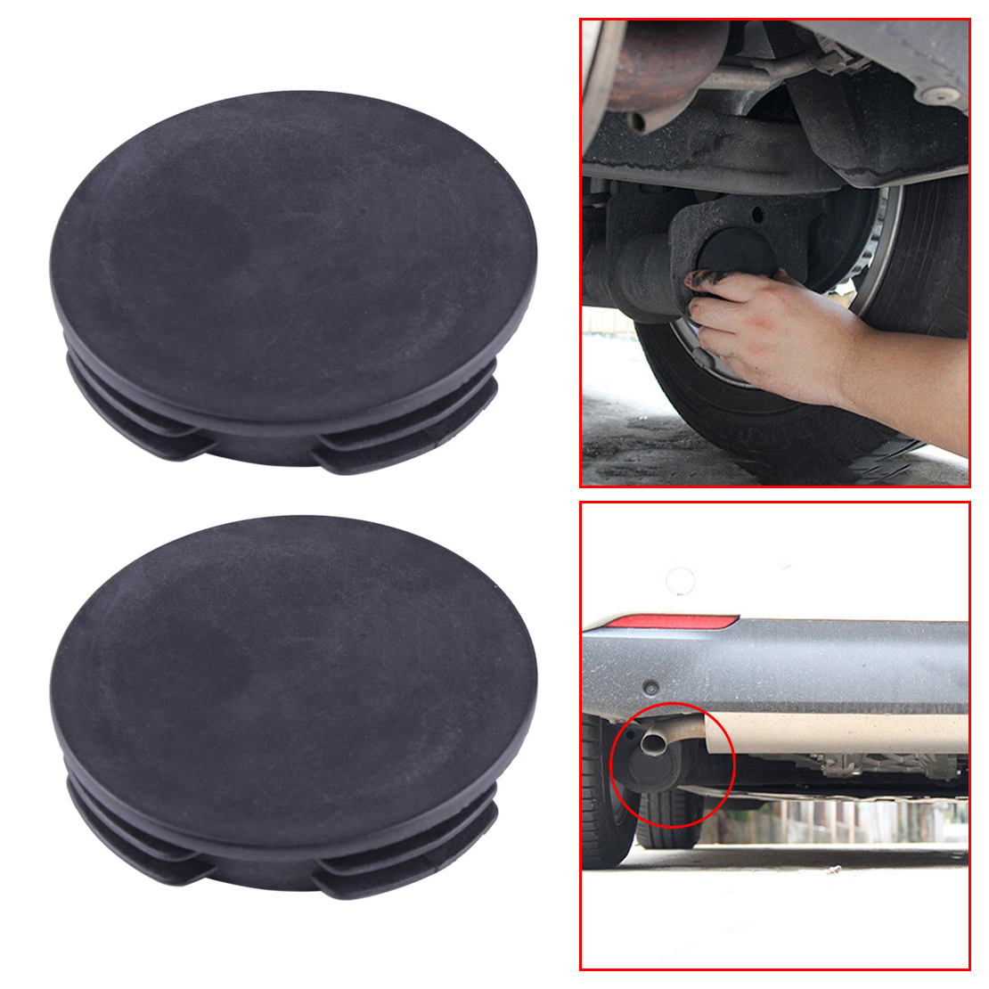 Exhaust Tail Pipe Tip Muffler Water Baffle Cover Protector Cap Specification Fit for Benz Smart Fortwo Forfour W451 2008-2014