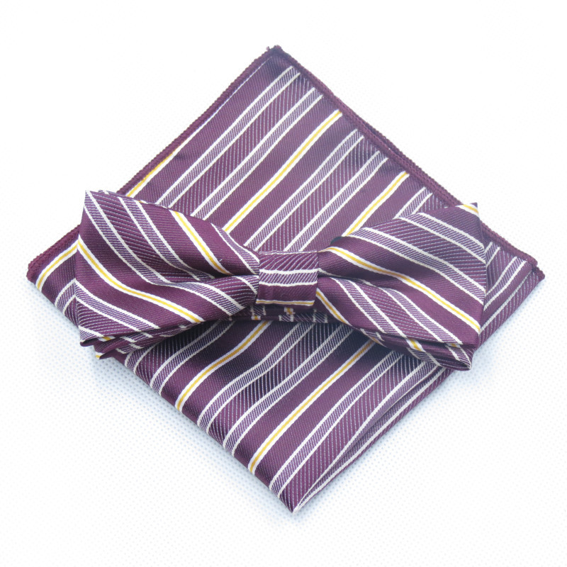 232383e39de3 Mantieqingway Polyester Bow Ties And Hanky Set For Mens Neckties Floral  Printed For Wedding Suit Handkerchief Bowtie Cravats