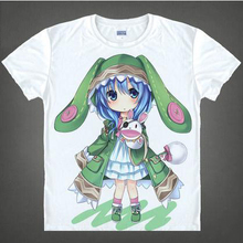 Date A Live T shirt Tokisaki Kurumi Yoshino Cosplay T Shirt Fashion Anime Cotton Tops Tee