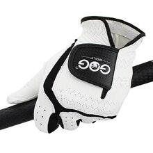 Мужская перчатка для гольфа из натуральной овечьей кожи дышащие мужские перчатки левая рука подходят для маленьких средних мл большой XL XXL