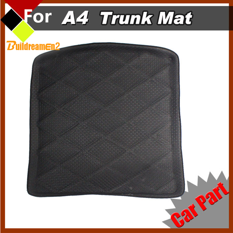 Buildreamen2 Vehicle Luggage Pad Tray Liner Boot Car Trunk Mat Protector Floor Carpet For Audi A4 Professional Design