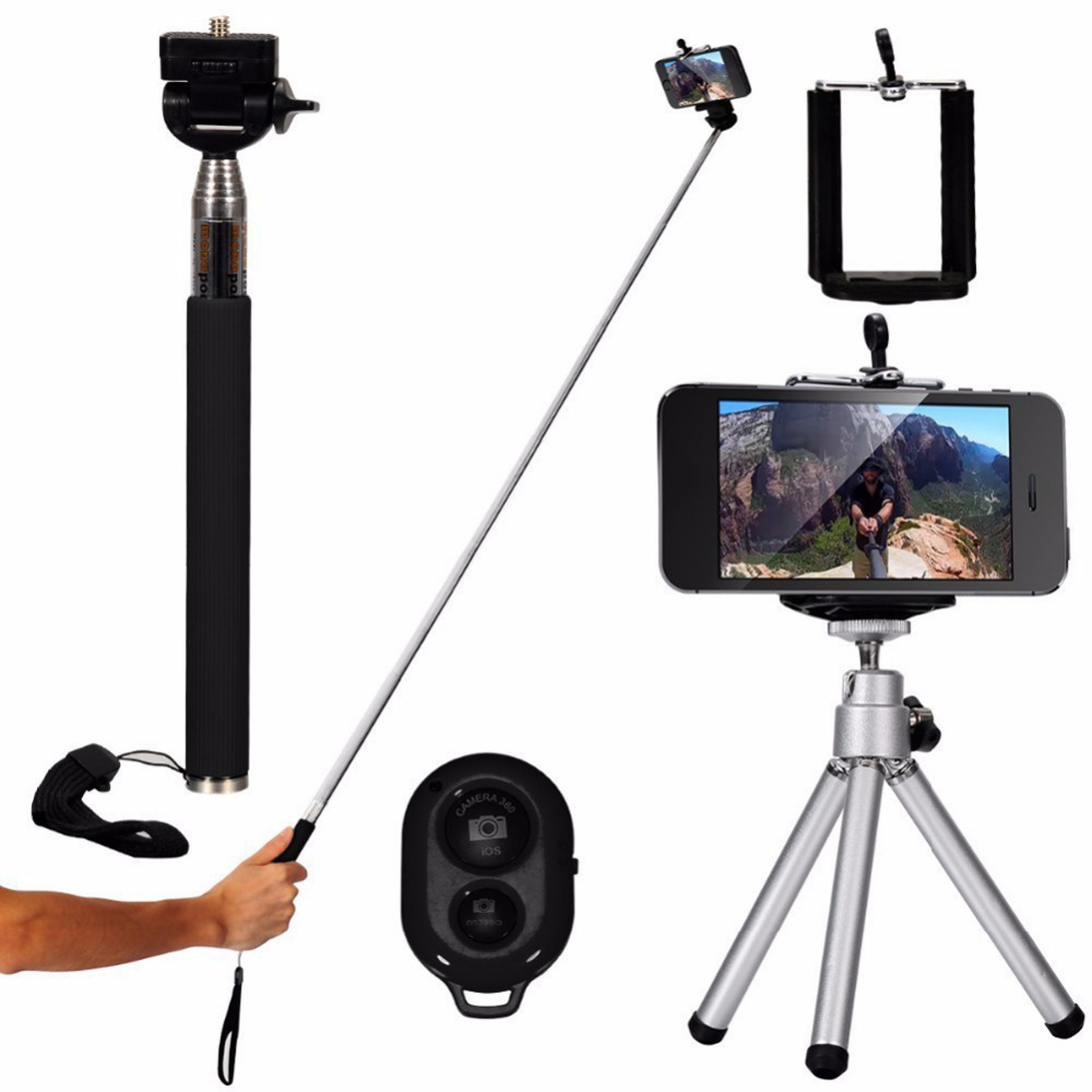 10 in 1 Mini Tripod Phone Holder 8X/12X Wide-Angle Macro Fisheye Lens Bluetooth Remote Control Telephoto Lens Selfie Stick Kit