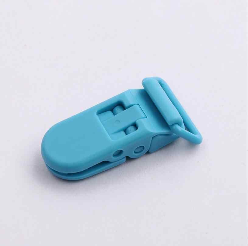 Baby Plastic Fopspeen Clip Houder Fopspeen Mam Baby Dummy Clips Keten Voor 20mm Lint Peuter Transparante Clip