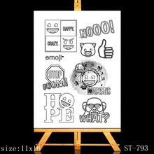 ZhuoAng Anime life Clear Stamps/Card Making Holiday decorations For  scrapbooking Transparent stamps