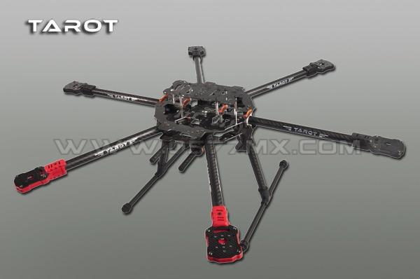 Tarot TL68C01 FY690S Completa Folding Hexacopter Aircraft 6 eixos de Carbono 3 K 690mm FPV
