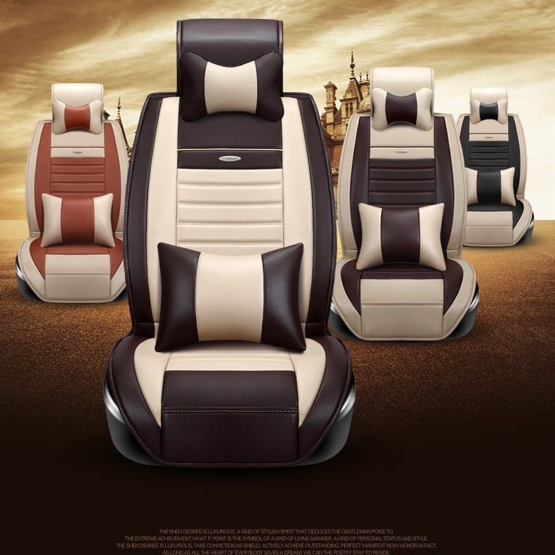 BABAAI brand leather car seat cover for audi A1 A3 A4 A6 A5 A8 Q1 Q3 Q5 qQ7 front and rear full car cushion black/coffee/beige for audi a1 a3 a4 a6 a5 a8 q1 q3 q5 q7 new brand luxury soft pu leather car seat cover front