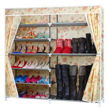 Simple shoe rack double thick oxford cloth reinforced storage boots Assembly Cheap