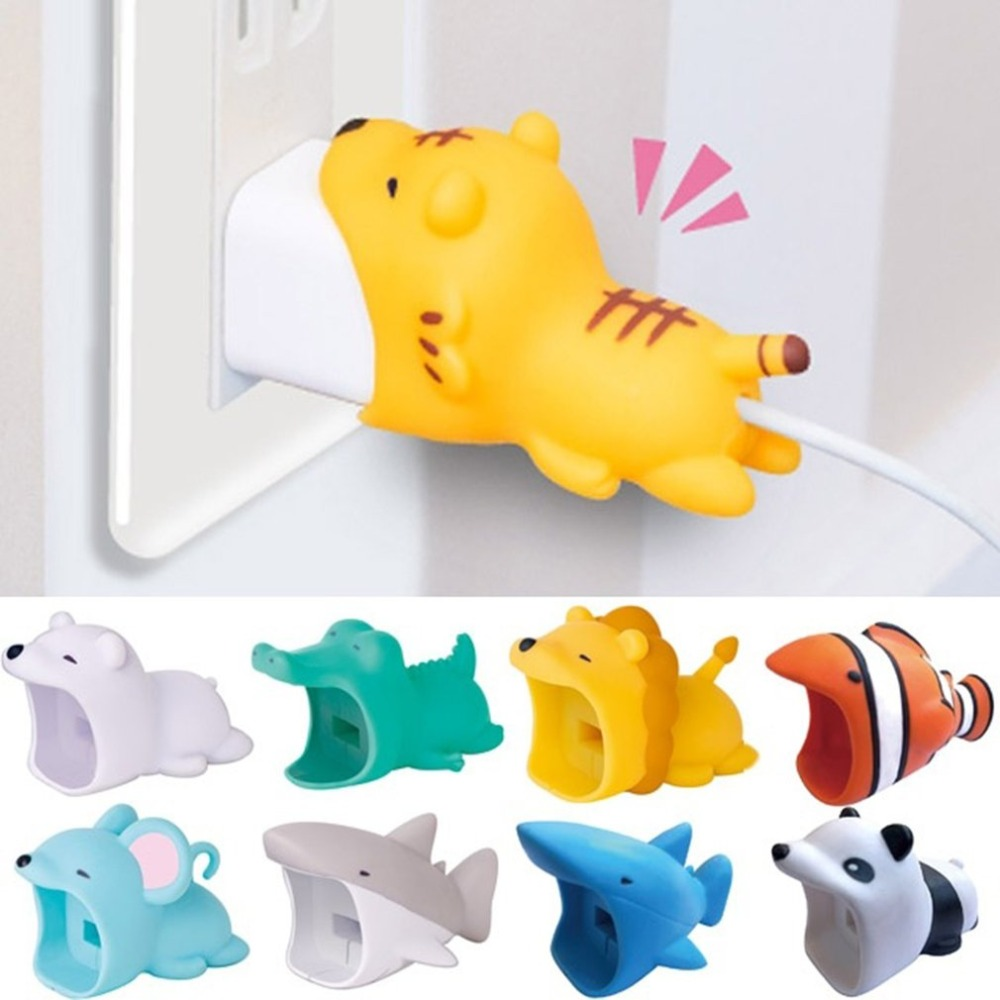 Cable Winder Consumer Electronics Chipal Big Bite Animal Cable Protector For Iphone Usb Data Cable Organizer Charger Winder Chompers Shark Panda Cartoon Bites Reasonable Price