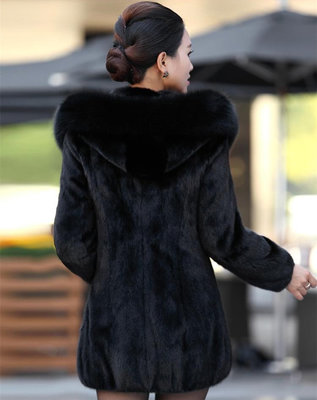 Élégant Capuche S Femmes Taille Grande Fausse Fourrure D'hiver 4xl Femme Longs Noir À Manteaux Noire Longue Hiver Veste Manteau 8qp5w6