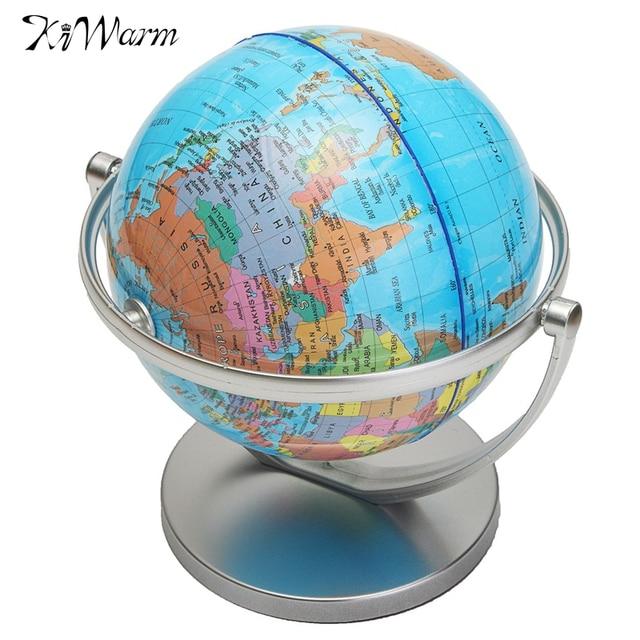 Kiwarm modern english geography world globe rotating world map kiwarm modern english geography world globe rotating world map ornaments for home office decor craft gift gumiabroncs Image collections