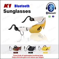 Sport Fashion K1 Cycling Polarized Sunglasses Bluetooth Headset Touch Function Wireless Headphone with Mic For iPhone Samsung LG