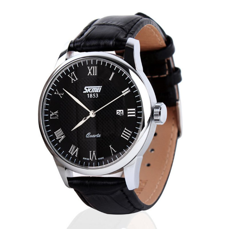 Women Watches Fashion Lovers Couple Watches Men Date Female Leather strap Quartz Wristwatch Display Watches