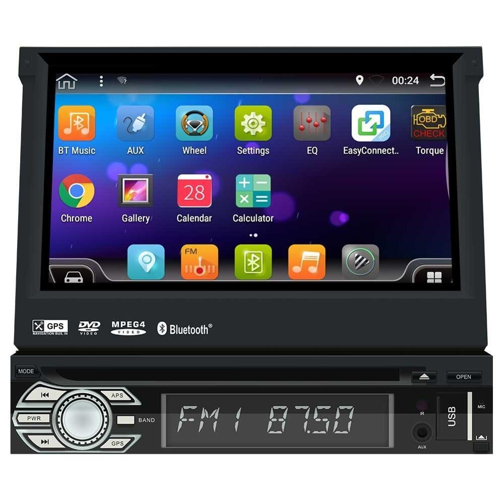 android 6 0 car stereo detachable touch screen 1 din in. Black Bedroom Furniture Sets. Home Design Ideas