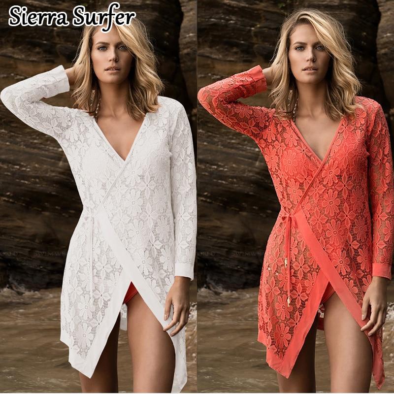 Badeanzug-vertuschungen Saida De Praia Beach Handtuch Sexy Up 2 Farbauswahl Neue Spitze Hemd Robe Plage Guarda Roupa Casal Elbise