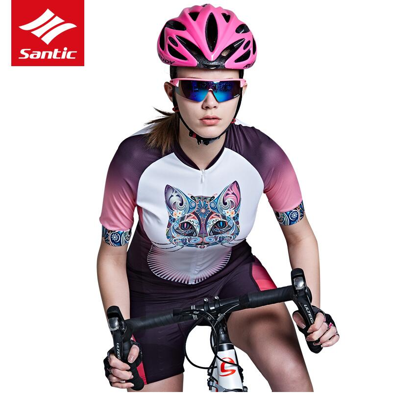 Santic Summer Women Cycling Jersey 2019 MTB Road Bike Jersey Quick-dry Cozy  Bicycle Jersey 509a0c2c6