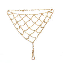 Sexy Women Girls Beach Alloy Barefoot Fish Net Design Toe Anklet Bracelet Foot Ankle Chain New 25-30cm