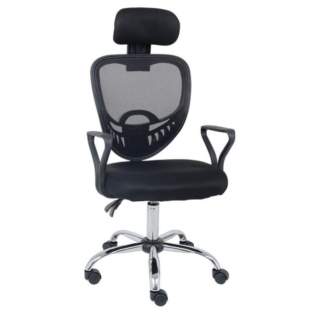 office chair high back desk elevation cad block wahson mesh ergonomic executive reclining task with adjustable headrest black
