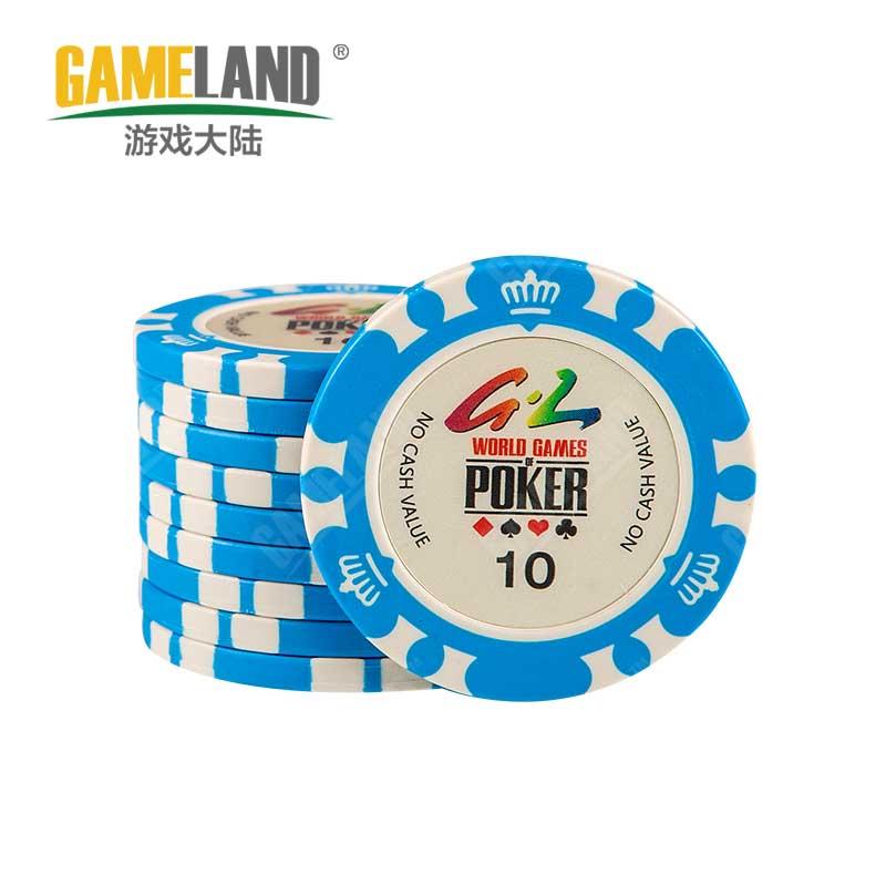 10pcs/Lot Premium Clay Chips 14 Gram Poker Crown Pattern 10 Values Texas Holdem Poker Gambling Casino Chip Wholesale