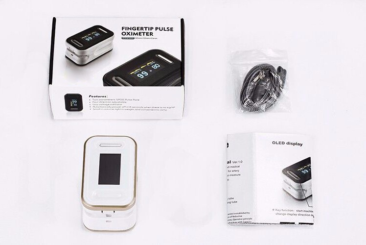 golden oximeter with packing