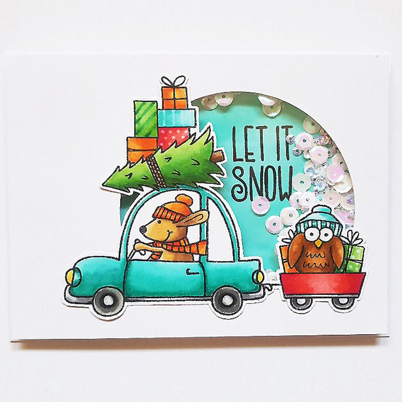 Driving Home For Christmas.Us 2 9 31 Off Driving Home For Christmas Transparent Clear Silicone Stamp Seal For Diy Scrapbooking Photo Album Decorative Cards Stamps 4x6in In