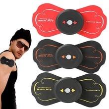 Массажер для шеи Фитнес мышцах Многофункциональный EMS Электрический физиотерапия инструмент плечо Шея Мини массажный пластырь