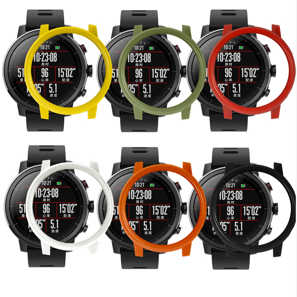Colorful Replacement watch protector cases cover for Xiaomi Huami AMAZFIT 2/2s Stratos Smart Watch Replacement Accessories