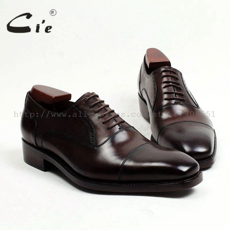 Ayakk.'ten Resmi Ayakkabılar'de Cie Ücretsiz Kargo Ismarlama Özel El Yapımı erkek Cap toe Elbise Oxford Kare Ayak Yarı brogue Dantel up İş Kahverengi Ayakkabı No. OX462'da  Grup 1