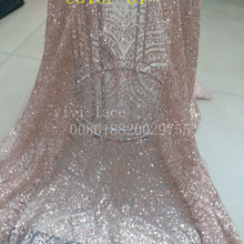 5yards N001 color 61 nude gold luxury hand print sparkle 7d681374739f