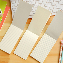10pcs/lot New simple cowhide notebook can tear the todo Kraft Paper Notepad Small Notebook Plan Notes Stationery Wholesale