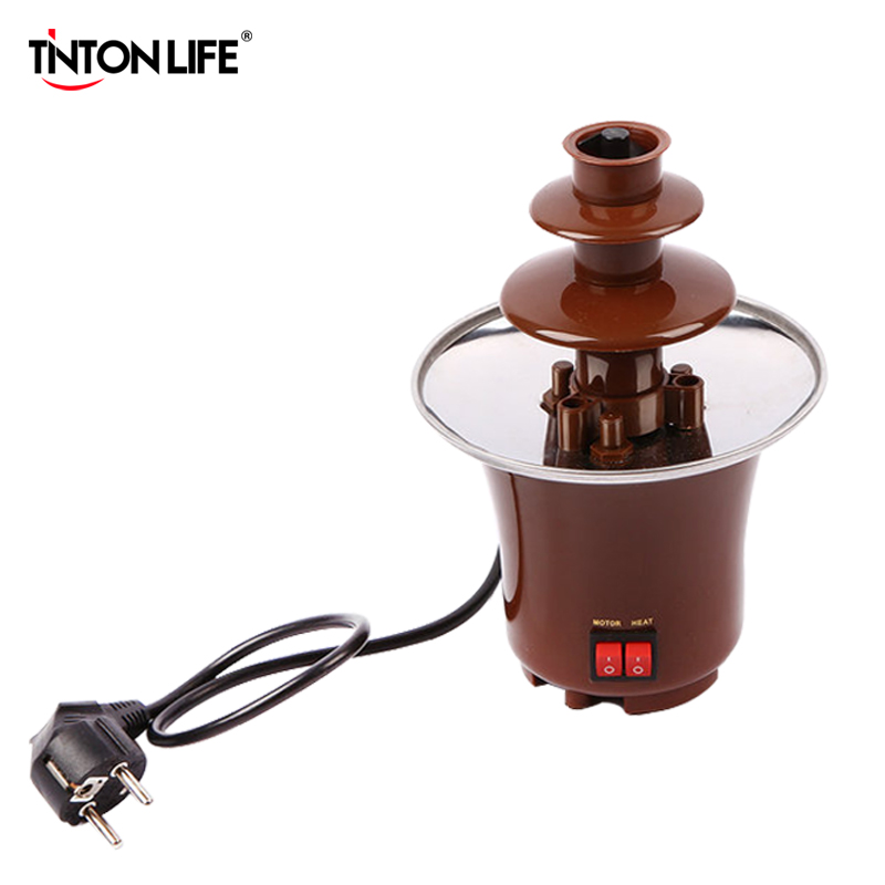 TINTON LIFE Creative Design Mini Chocolate Fountain For Sale Fondue Machine Chocolate Melts With Heating tinton life creative design mini chocolate fountain for sale fondue machine chocolate melts with heating