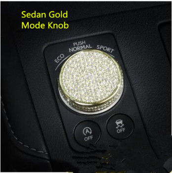 Gold /Silver Sedan Crystal Mode Button Frame For Lexus RX200tNX200tES200300hCT Z2EA1281
