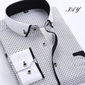 2016  Men's Brand Clothing Slim Fit Dress Men Shirts Casual Men Shirt Long-sleeve Chemise Homme  Shirts Fashion Men Clothing