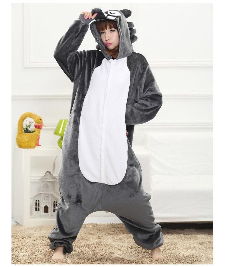 New Adult Animal jackal  Cosplay Pajamas Onesie Sleepwear Costume