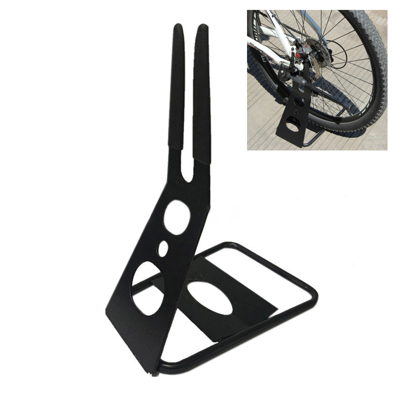 Bike Bicycle Pro Floor Parking Stand Holder Triangle Rear Hub Storage Rack Hold